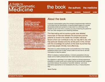 Screenshot of A Guide to Psychosomatic Medicine website